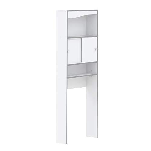 6091A7321M17 - Mueble para la lavadora, color blanco y gris ...