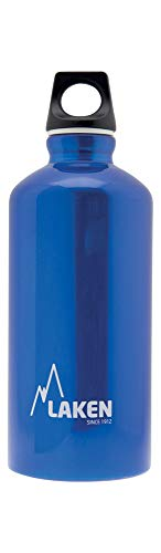 Laken Unisex – volwassenen aluminium blauw, BPA aluminium drinkfles Futura 0,6 liter, PBA vrij