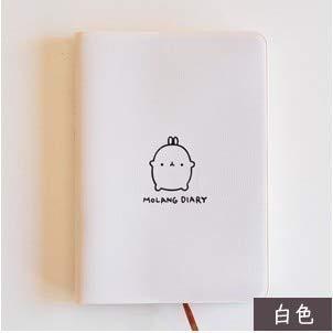 Agenda planificadora para Kawaii con diseño de conejo gordo, para cualquier año 2018, 2019, calendario de bolsillo, cuaderno de estudio, Kawaii, regalo
