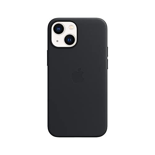 Apple Leder Hülle mit MagSafe (für iPhone 13 Mini) - Mitternacht