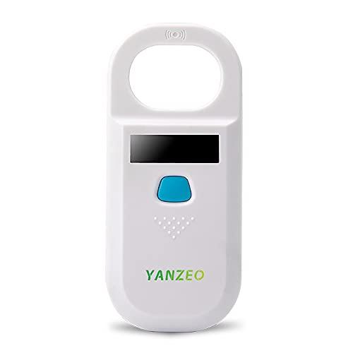 Yanzeo AR180 Haustier-Mikrochip-Lesegerät, RFID EMID Tierleser, 134,2 kHz, Wiederaufladbar, Tier-Chip-Scanner FDX-B(ISO 11784/11785)