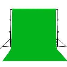 Maxsimafoto® - Fotografie-Hintergrund 1,8m x 2,8m / 6ft x 9 ft Grün 100% Baumwolle Musselin Hintergrund Tuch. Grüner Bildschirm (stand / Pol ist nicht inbegriffen)