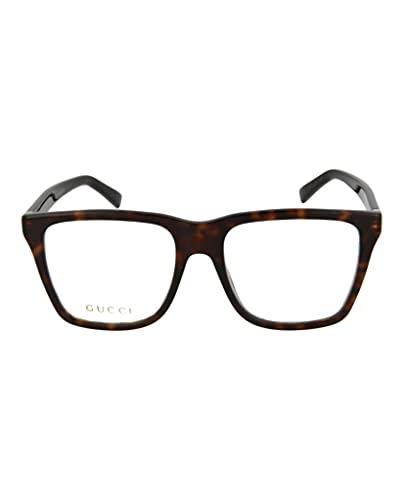 Gucci Occhiale da Vista GG0452O 002 havana montatura plastica taglia 54 mm occhiale uomo