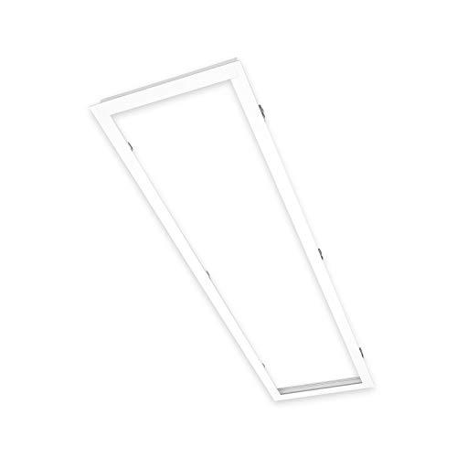 Xtend Serie PL-Z - Marco empotrable para panel LED (120 x 30 cm, aluminio), color blanco