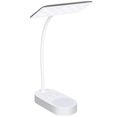 Lámpara de Mesa Estudio teórico del USB LED de la lámpara de Doble lámpara de Carga 5 Paradas fría Caliente Tabla del Escritorio de la lámpara de luz Mesa de luz Led lámparas de escrit