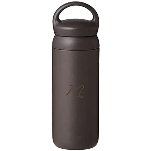 [名入れ無料] KINTO キントー デイオフタンブラー 水筒 500ml DAY OFF TUMBLER 刻印 ギフト プレゼント ボトル マグ タンブラー (ダークグレー, イニシャル(ドット))