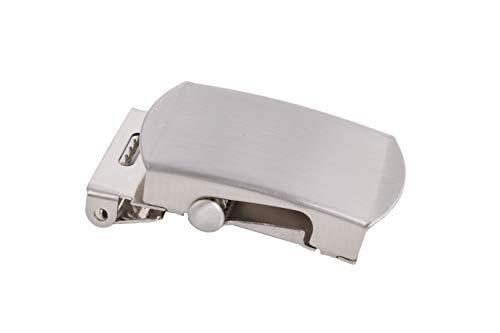 shenky - fibbia di alta qualità per cintura in stoffa e militare - larghezza 4 cm - Argento