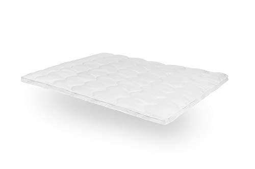 SLEEPMED 180 x 200 cm Atmungsaktiver Matratzenbezug mit Gummibändern, Matratzentopper 3D-Ventilation,Topper hypoallergen für Boxspringbetten, Doppelbetten