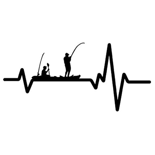 TYUTYU Calcomanía de Vinilo Etiqueta engomada de Coche Pesca Kayak Fish Line Rod Reel Polo Guys (Color Name : Black)