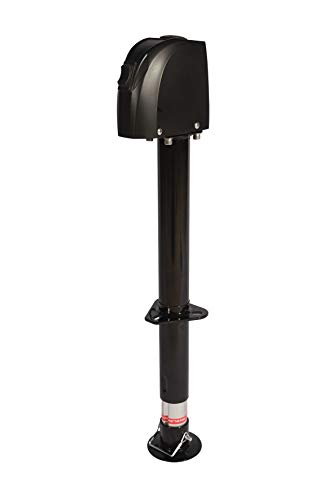 12V DC Electric Trailer Jack with Ground Wire Connection - 2,000lb Lift Capacity