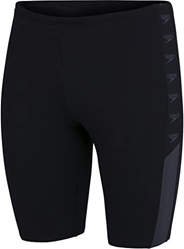 Speedo Boom Logo Splice Jammer für Herren, schwarz (Schwarz/Oxid Grey), 32 (DE 4)