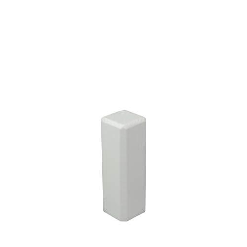 Trevendo Eckstäbe, Ecktürme, Innenecken Außenecken aus Holz (lackiert) für weiße Sockelleisten, Inhalt: 15 Stück 65 x 22 x 22 mm
