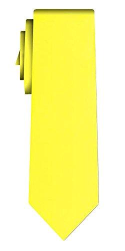 Cravate unie solid lemon VII