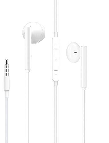 Auriculares para iPhone, Cascos con Cable, Auriculares con micrófono y Control de Volumen, para iPhone/iPod/iPad/Android/PC/MP3/MP4 y Todos los Dispositivos de Auriculares de 3,5 mm