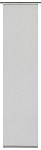 Gardinia Flächenvorhang Stoff waschbar 125 Uni grau 60 x 245 cm