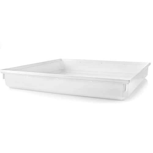 CABLEPELADO Bandeja de Goteo para Lavadora 70x70x10 cm Blanco