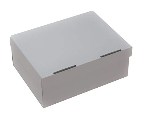 Precision Cardboard 10 Pack of White Shoe Boxes