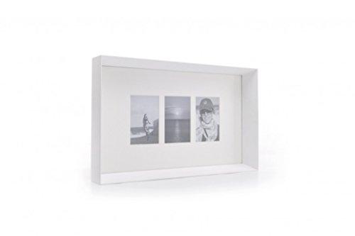 XL Boom Prado Photo Frame, White - Holds 3 Photos