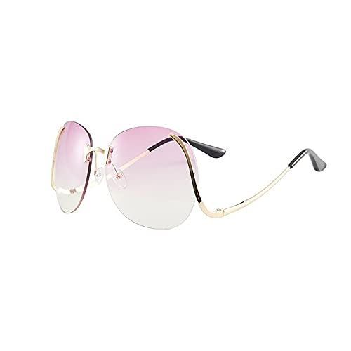 XWKKY Gafas De Sol De Gran Tamaño Para Mujer Lentes Transparentes Para El Océano Montura De Gafas De Sol Para Mujer