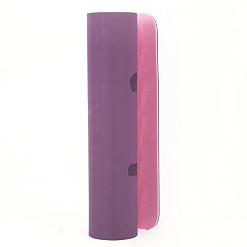 Fitabit Tappetino Da Yoga Ecofriendly Spessore 6 mm, Materiale Ad Alta Densità Superficie Antiscivolo, Tappetino Per Tutte Le Tipologie Di Allenamento. TPE Materiale Certificato Con Custodia (Purple)