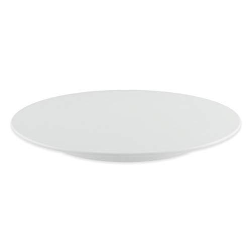 thermohauser Tortenplatte aus Melamin weiß, rund, Durchmesser 32,0x2,5 cm, mit feststehendem Fuß, Kunststoff