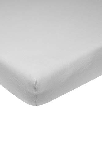 Meyco 564005 - Sábana bajera ajustable para cama de bebé (100% algodón, 60 x 120 cm), color gris claro
