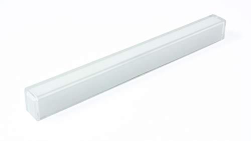 LGM-Beschlag Möbelgriff Roxheim, Design, Modern, Kunststoff - weiß, Kunststoff Glaseffekt - transparent klar, 148 mm x 15 mm x 13 mm, LA 128 mm, 46656