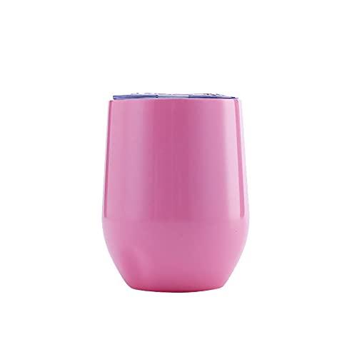 YJKL Taza de acero inoxidable, tazas de viaje Copa de vino tinto taza de café agua de viaje 12 oz/360 ml 8 colores doble capa grande vientre taza multifuncional mantener frío preservación del calor
