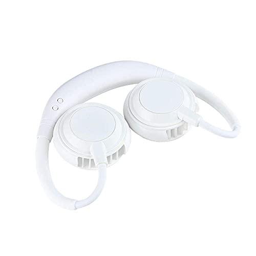 Ventilador portátil del cuello, Mini Mini USB Fan recargable Portátil Ventilador personal, Ventilador de Escritorio, Escritorio Fan con la cabeza de doble viento 3 velocidades para el deporte Outdoor