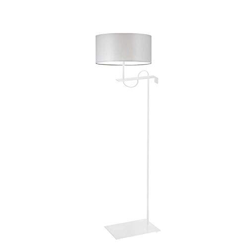 Kamerun - Lámpara de pie, color gris claro, marco blanco