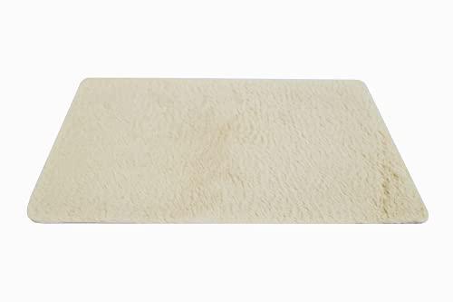 NNGT Alfombra Antideslizante Pelusa Suave Alfombra para salón Dormitorio o Baño Alfombra Dormitorio Pequeña (40x60cm) (Beige)