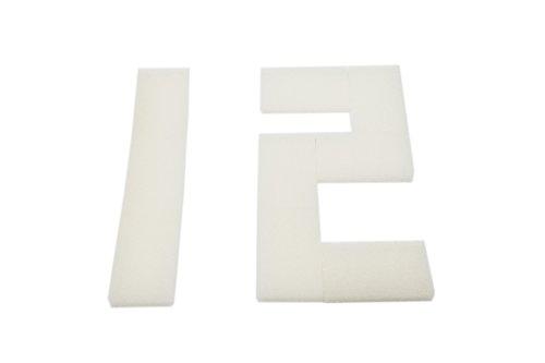 LTWHOME Compatible en Mousse Filtration Convient pour Interprété PF1 Interne Filtres(Paquet de 12)