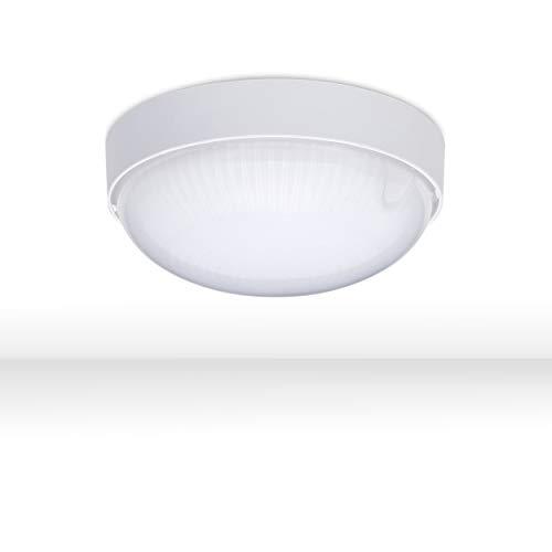 LED Deckenleuchte BASE MINI Ø 14cm weiß | Kellerleuchte Rund IP65 800Lm 9W | Kellerlampe Wand 4000K Neutralweiß