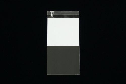 印刷透明封筒 長3 【1,000枚】 OPP 50μ(0.05mm) 表:白1/2ベタ 切手/筆記可 静電気防止処理テープ付き 折線付き 横120×縦235+フタ30mm印刷可