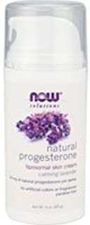 Now Foods Progesterone Cream, 3 Oz w Lavender (Pack of 2)