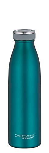 ThermoCafé Trinkflasche 500ml, TC Bottle, Thermosflasche, Edelstahl türkis Isolierflasche auslaufsicher, Wasserflasche 4067.255.050, Thermoskanne 12 Stunden heiß, 24 Stunden kalt