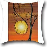Goling BBay art tree Ease Naturals Organic Cotton Allergy Decorative Fashion Cushion Cover Pillowcase 1818