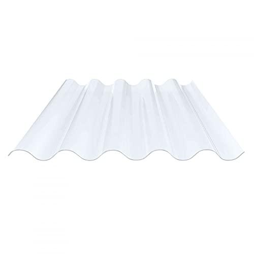 Lichtplatte | Wellplatte | Lichtwellplatte | Profil 177/51 | Material PVC | Breite 920 mm | Länge 2,00 m | Stärke 1,2 mm | Farbe Klarbläulich