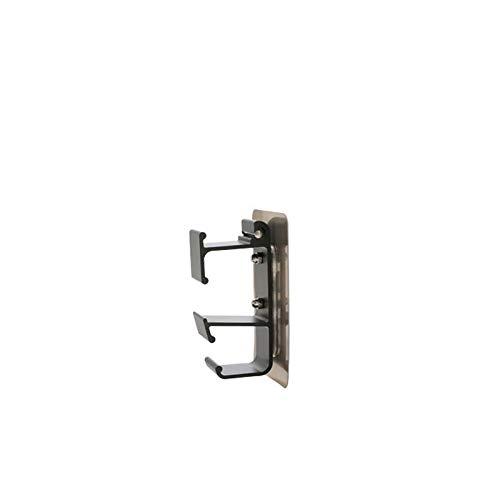 Dabeigouzguag percheros Pared, Hook Home Kitchen Multi-Color Choice 11 * 4.5 * 2.5cm Soporte de Lavabo Perforado Montado en la Pared Basquillo de Almacenamiento Hook de Inodoro (Color : Black)