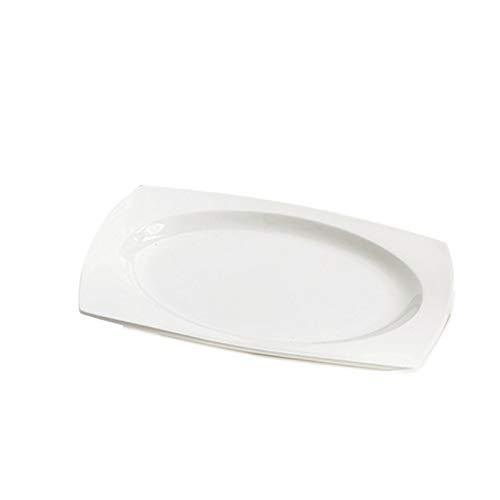 Huachaoxiang Plaque De Salle À Manger Peu Profonde Estrice en Porcelaine, Plat Kitchenette Plats Plat Plongée Plaque Plaque De Petit Déjeuner pour Motif Service De Haute Qualité,1