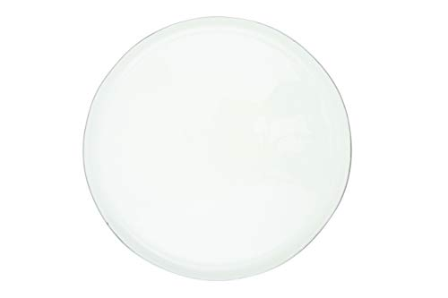 Canvas Home Ltd C37-PLT-LG-PL Canvas Home Abbesses Plate met Platinum Rim, groot pak van 4, Porselein