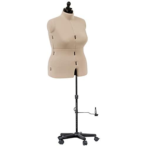 Dritz My Double Designer-Full-Figure Dress Form, Ivory