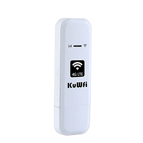 KuWFi 4G LTE USB WiFi Módem dispositivos móviles de Internet con ranura para tarjeta SIM CRC9 puerto de alta velocidad portátil de...