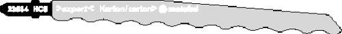 Metabo 623684000 3 Stichsägeblattmesser HCS 126 mm, Farbe, Size