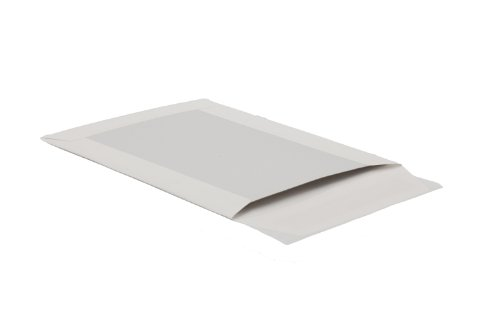 Bong 14003 - Sobres C4 (papel de estraza 120 g/m², reverso de cartón gris 450 g/m², cierre autoadhesivo, 100 unidades), color blanco