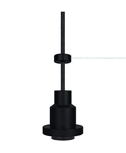 LEDVANCE Vintage Edition 1906, Pendulum, schwarz, E27-Fassung, Deckenleuchte, flexibles Zugseilsystem, IP20, Gehäuse aus Aluminium