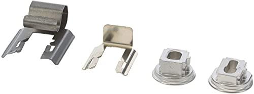 4 casquillos y muelles SpareHome® compatible con hornos Bosch, Siemens, Balay, Neff y Gaggenau