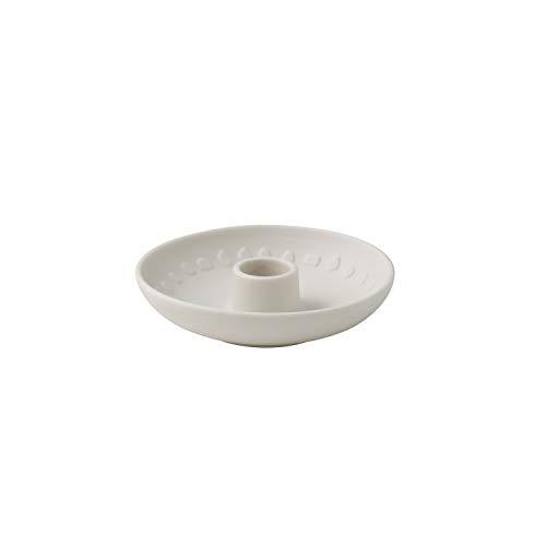 Villeroy & Boch - its my home Kerzenhalter Blossom, eleganter Kerzenhalter für Ihre Tafel, Premium Porzellan, grün, weiß
