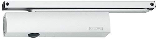 GEZE Türschließer TS5000 TS 5000, RAL9016 weiß, Komplettpaket inkl. Montageplatte und Gleitschiene