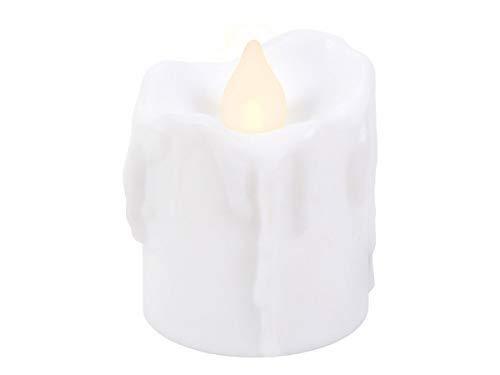 Trend-world Bougies à LED Scintillante   TL-05   Bougie Blanche avec Un Aspect de Cire coulée sur l'extérieur   réutilisable décorative sûre et Propre, LED-Teelicht TL-05 weiß:30 pièces